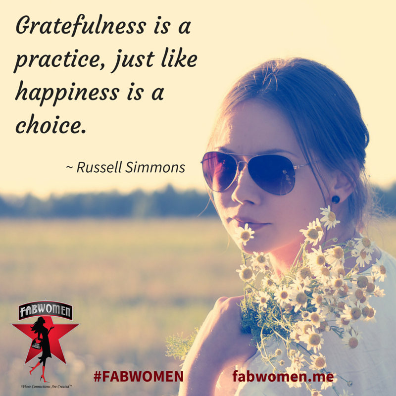 FABWOMEN Be Inspired Quote: Gratefullness